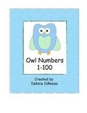 Blue Owl Number Line 1-100