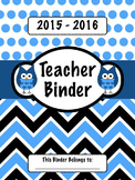 Blue Owl Teacher Binder