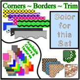 Blue Pastel Borders Trim Corners *Create Your Own Dream Classroom/Daycare*