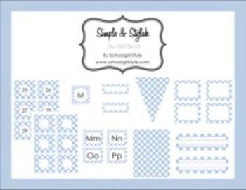 Classroom Decor Blue Pastel Polka Dot Collection