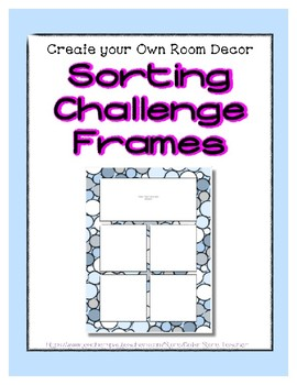 Blue Pastel Sorting Mat Frames * Create Your Own Dream Classroom Daycare