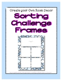 Blue Pastel Sorting Mat Frames * Create Your Own Dream Cla