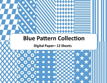 Blue Pattern Paper