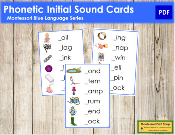 Blue: Phonetic Initial Sound Cards