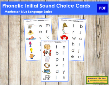 Blue: Phonetic Initial Sound Choice Cards