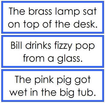 Blue: Phonetic Sentence Cards - Set 2