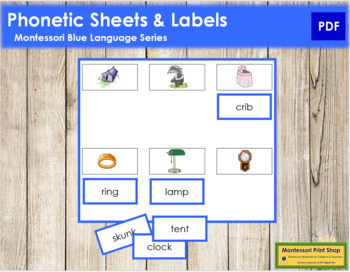 Blue: Phonetic Sheets & Labels