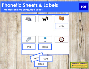 Blue: Phonetic Sheets & Labels (real pictures)