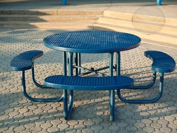 Blue Picnic Table - for Personal and Commercial Use