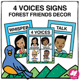 Forest Friends Music Classroom Decor: 4 Voices Signs/Anchor Charts