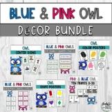 Blue & Pink Owl Classroom Decor Bundle