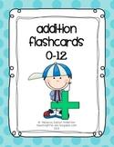Blue Polk-a-Dot Addition Flashcards 0-12