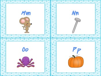 Blue Polka Dot Alphabet Cards