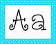 Blue Polka Dot Alphabet with 5 Fonts