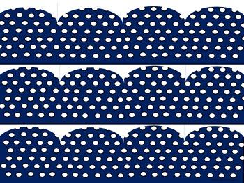 Blue Polka Dot Borders