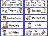 Polka Dot Classroom Labels - Blue