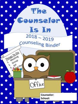 Blue Polka Dot Counselor Binder Set (Editable)