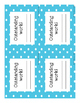 Homework and Reading Teacher Tracking Chart w/ Award Certificates Blue Polka Dot