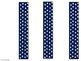 Blue Polka Dot Name Plates