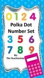 Blue Polka Dot Number