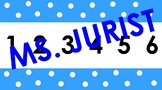Blue Polka Dot Number Line 0-100