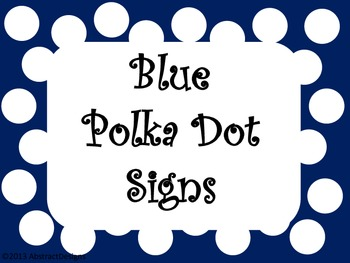 Blue Polka Dot Signs