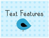 Blue Polka Dot and Birds Nonfiction Signs and Text Structures