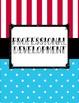 Blue Polka Dot and Red and White Stripe Carnival Teacher Binder for 2016-2017