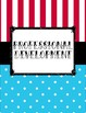 Blue Polka Dot and Red and White Stripe Carnival Teacher Binder for 2017-2018