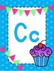 Blue Polka dot and banner alphabet