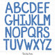 Alphabet - Blue