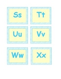 Blue Polks Dot Word Wall Letters