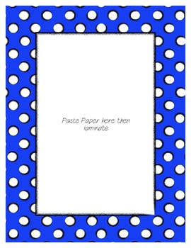Blue Poster Frames * Create Your Own Dream Classroom / Daycare *