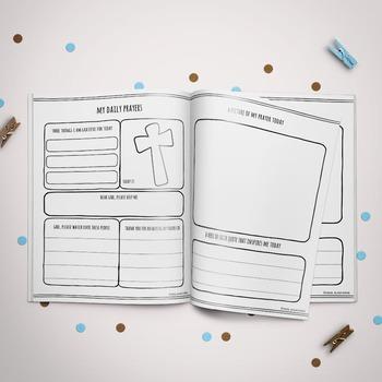 Blue Prayer Journal for Children