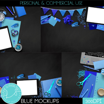 Blue Primary Brights Style Mockups