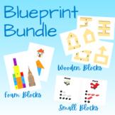 Blue Print Bundle - Wooden Blocks, Small Blocks & Foam Blocks