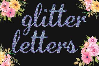 Blue & Purple Glitter Alphabet
