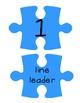 Blue Puzzle Piece Line Up Visual 1-30