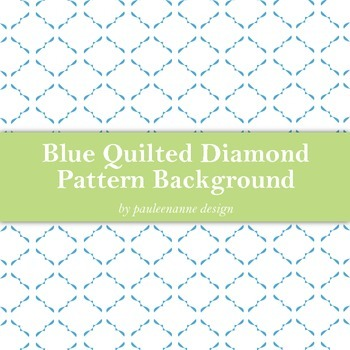 Blue Quilted Diamond Pattern Background