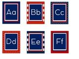 Blue, Red, White Alphabet Print