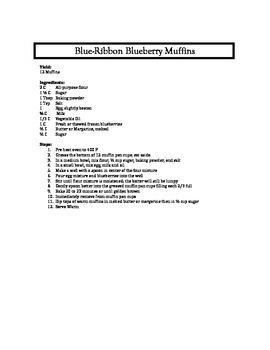 Blue Ribbon Blue Berry Muffins