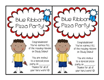 Blue Ribbon Pizza Party Invitation!