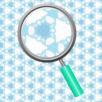 Blue Ribbon Swirls Backgrounds / Digital Paper Clip Art Set for Commercial Use