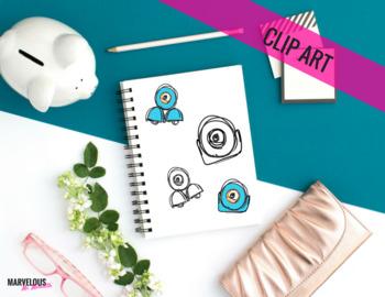 Blue Robot Clipart