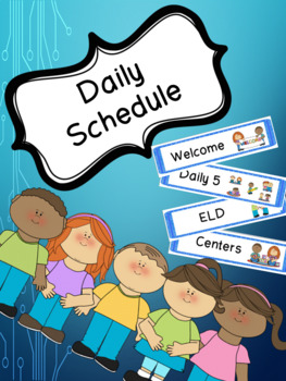 Blue Schedule Cards for Visual Schedule