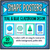 Blue Shapes Math Posters