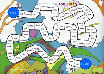 Blue Sight Words - Learning Center Games
