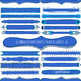 Blue Skinny Header Labels, Page Title ClipArt Borders