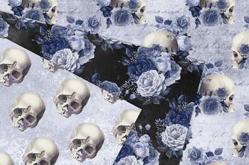 Blue Skull Digital Paper
