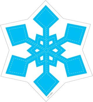 Blue Snowflake - Winter Cut-Out Decor